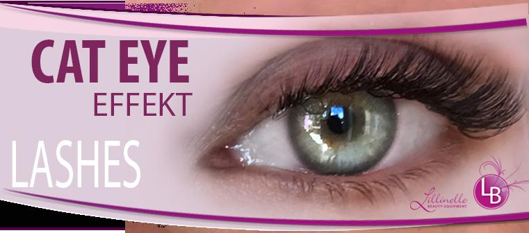 Wimpernverlängerung Cat Eye Effekt