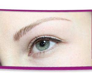 Permanent makeup lidstrich