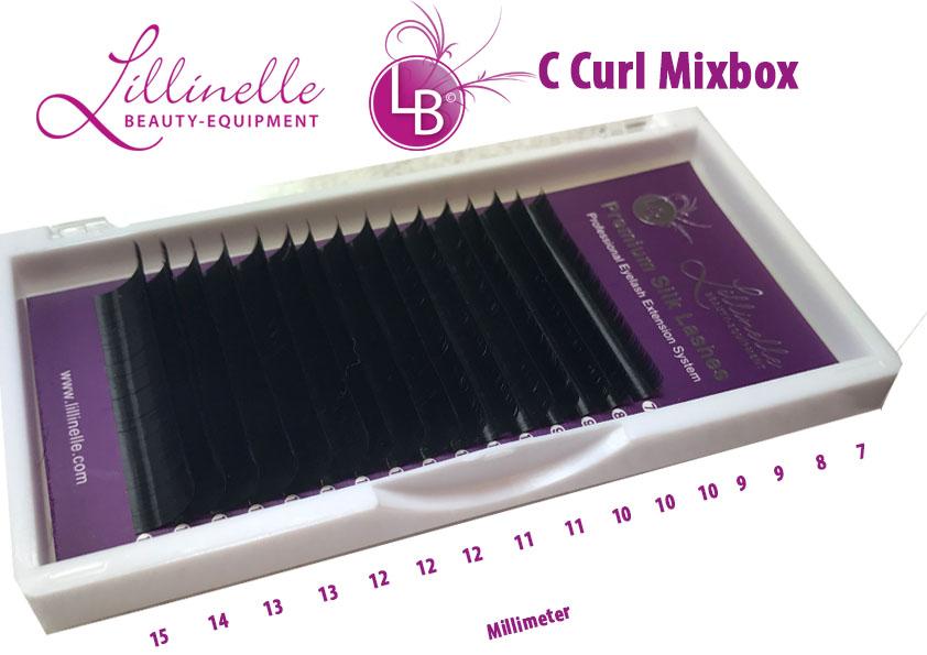 Mixbox Seiden Volumenwimpern C Curl Strke 006