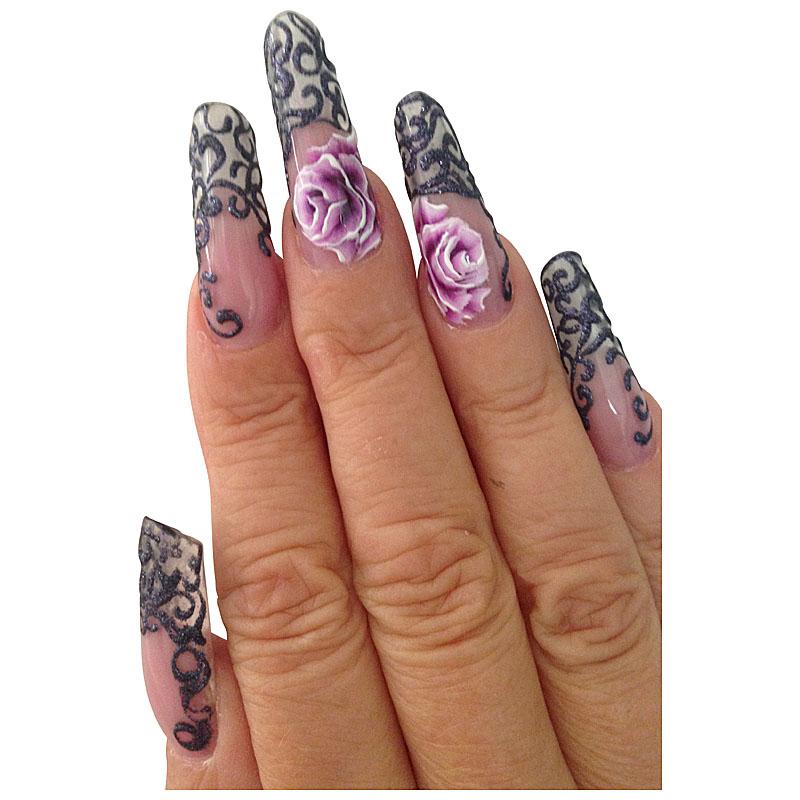 Nail Art GlitterSet SILVERGOLD