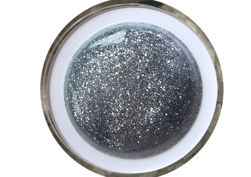 Glittergel White Silver