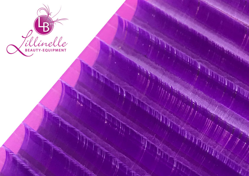 Farbige Wimpern in Violett Mixbox