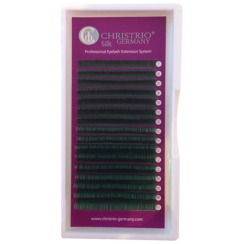 Farbige Wimpern in Olivegrn Mixbox