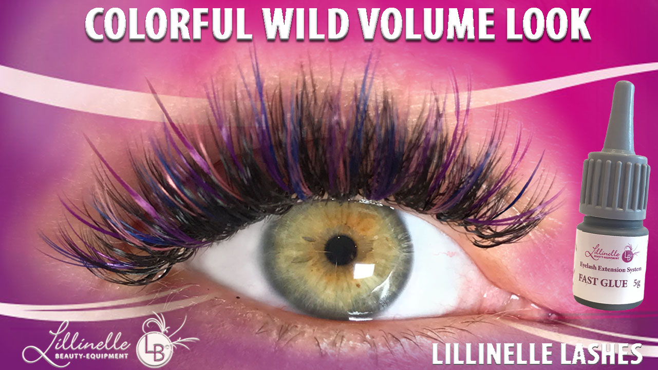 Farbige Wimpern in Pink Mixbox