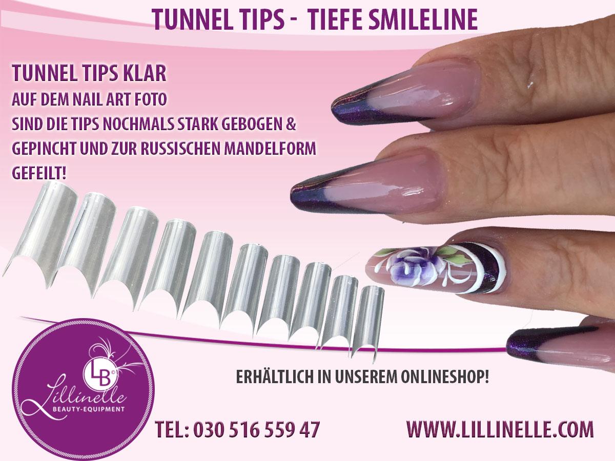Tunnel Tip Box 500  Tiefe Smileline Nagel Tips