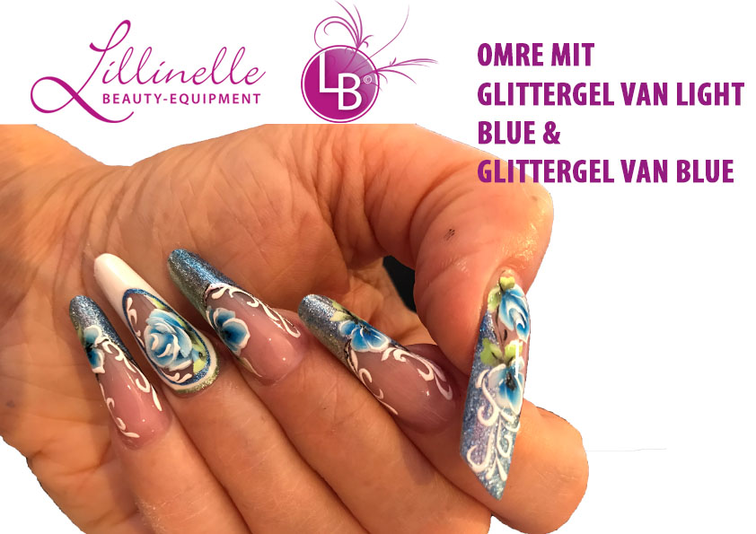 Glittergel Van Light Blue 5 ml