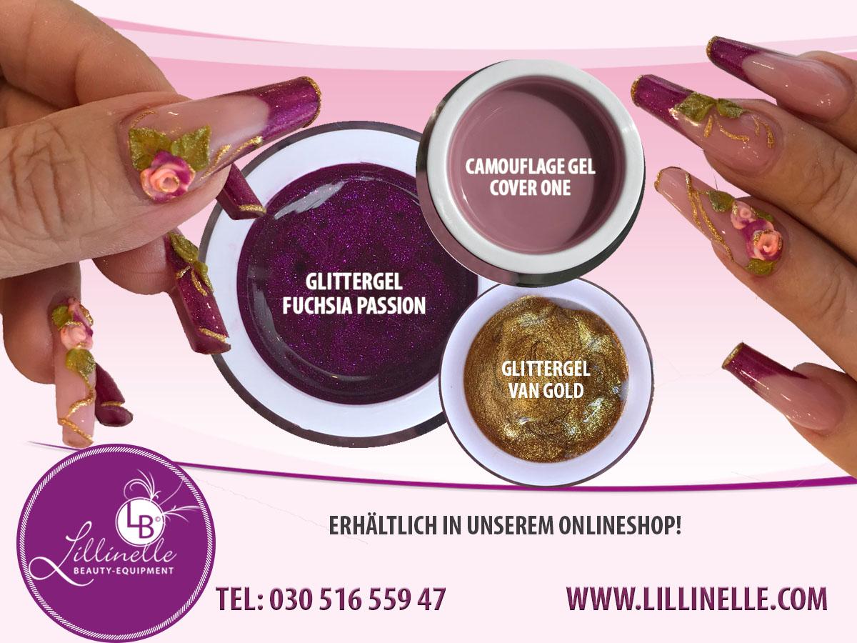 Glittergel Fuchsia Passion