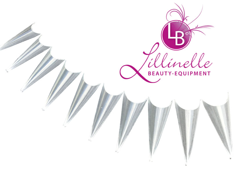 Stiletto Tunnel Tips mit tiefer Smileline