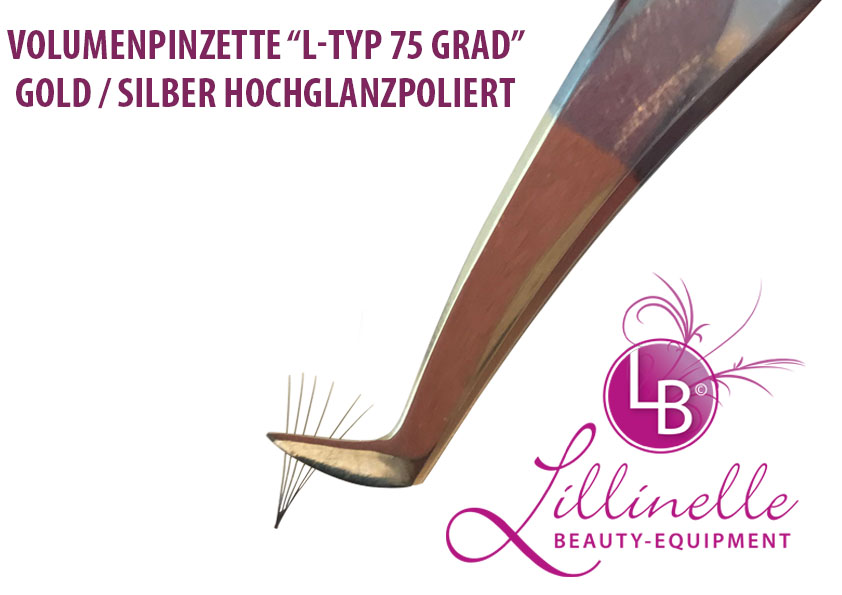 Volumenpinzette 75 Grad Bicolor Hochglanz