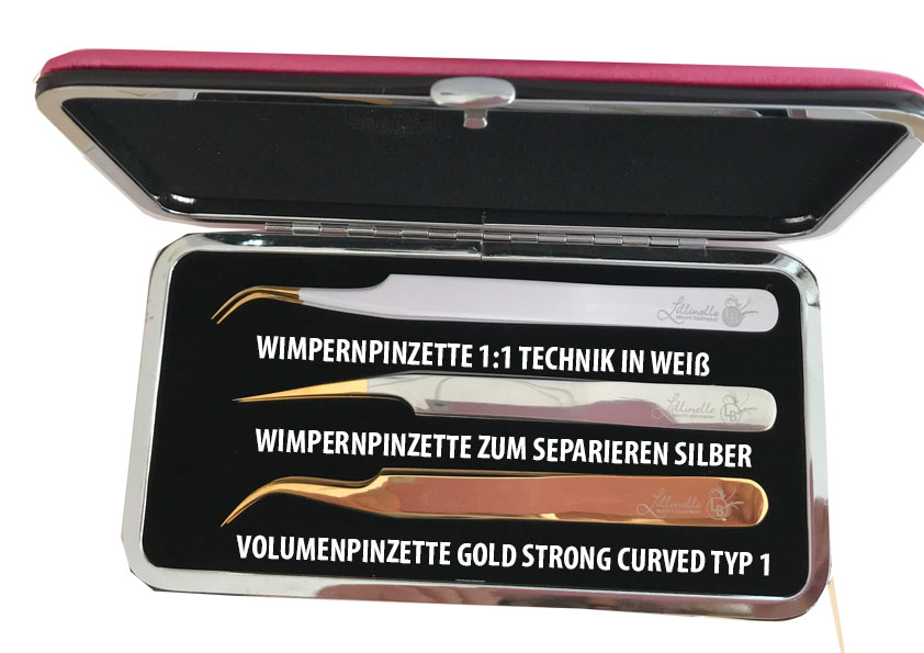 Angebot Wimpernpinzetten 3er Set in pink