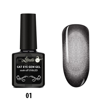 Cat Eye Gem Gel 01  in silber