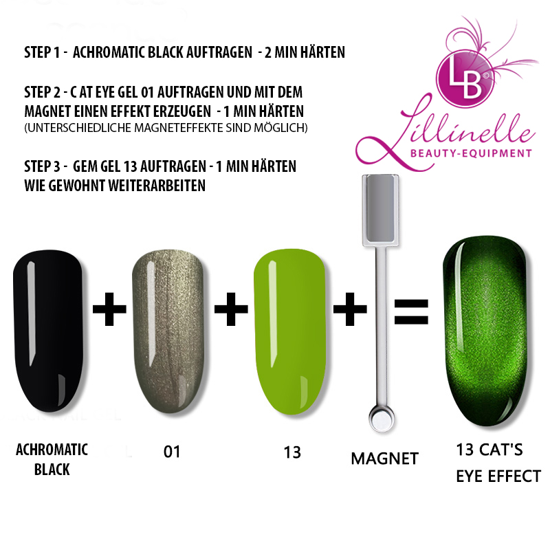 Cat Eye Gem Gel 13 in Green