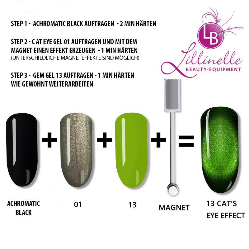 Cat Eye Gem Gel 13 in Green
