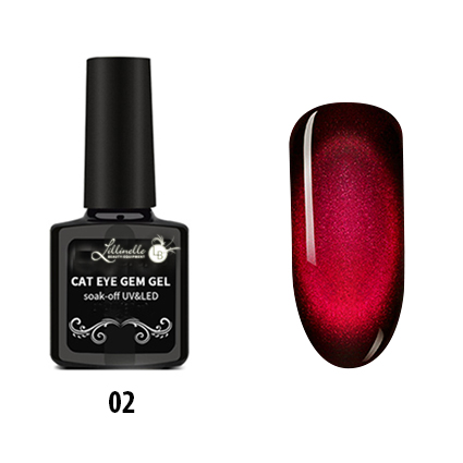 Cat Eye Gem Gel  02 in Red