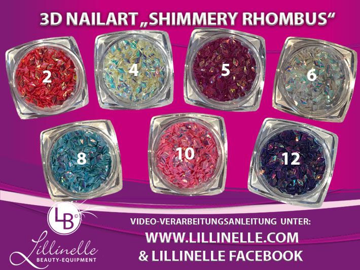 AngebotsSet 7 x Shimmery Rhombus  Strasspicker Shopartikel
