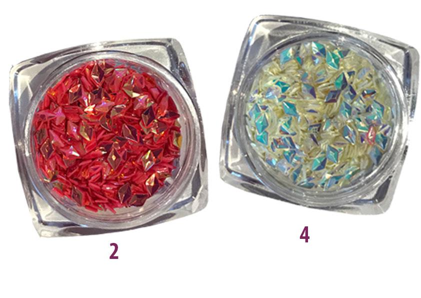 AngebotsSet 7 x Shimmery Rhombus  Strasspicker