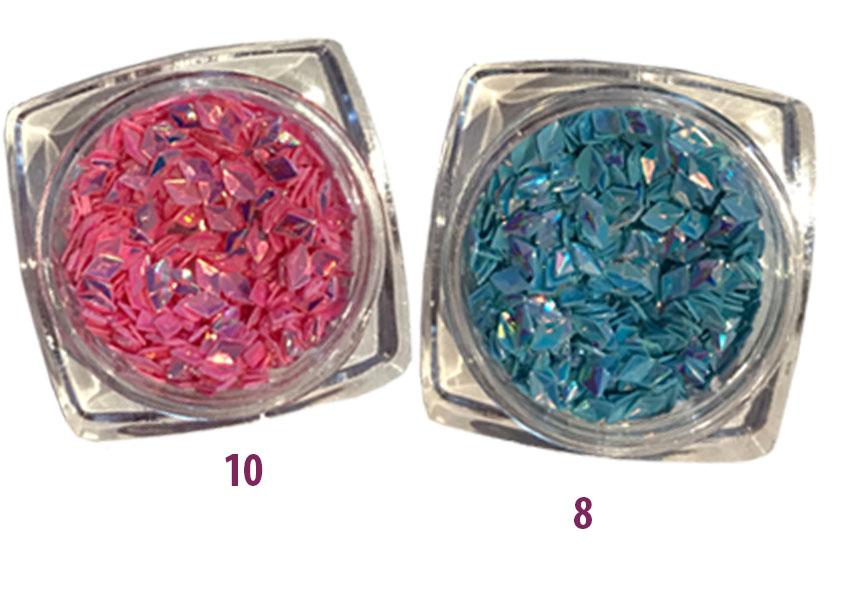 3D Nailart Shimmery Rhombus