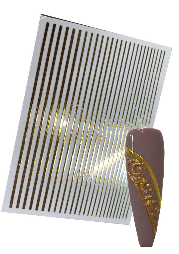 Flexible Stripes in Gold Shopartikel