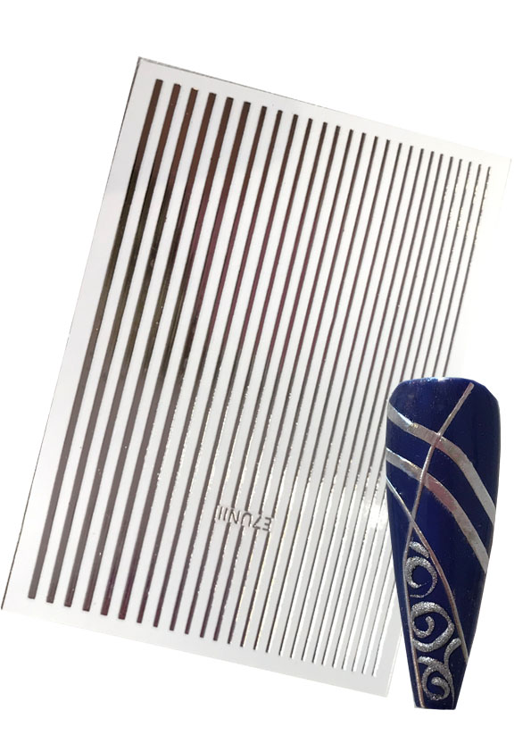Flexible Stripes in Silber Shopartikel