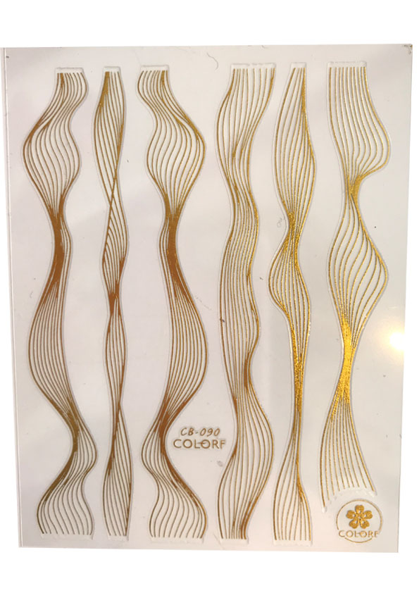Flexible Stripes Wave in Gold Schwarz und Wei Shopartikel