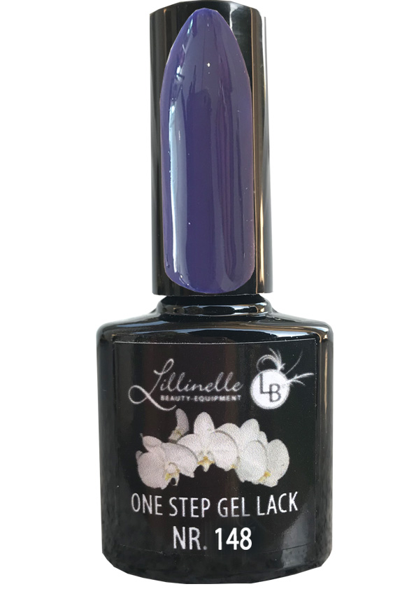 One Step Gel Lack  Nr. 148 Dark Blue